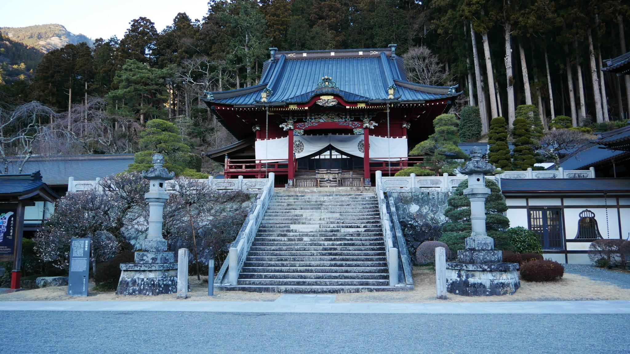 ゆるキャン 身延山久遠寺で 志摩リンのビーノ と一緒に安全祈願会